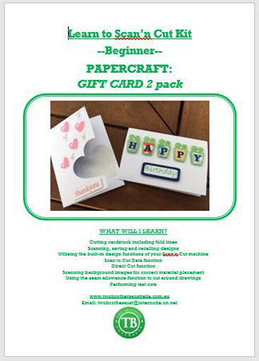 LEARN TO SCAN'n CUT KIT - 2 PACK GIFT CARDS