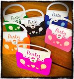 6pk Kids Birthday Party Pack - Handbag Invitations, Party Favours and Party Scatters