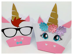 6 pack Unicorn Party Favour Boxes