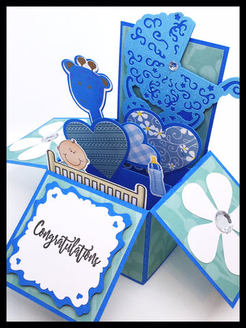 New Baby/Baby Shower Box Card - Blue