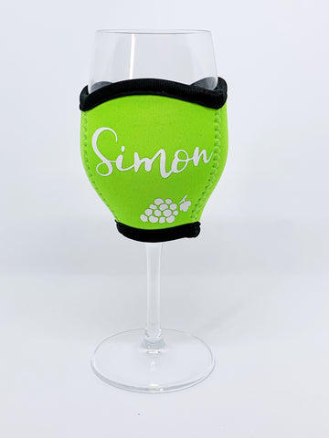 Personalised Wine Glass Cooler