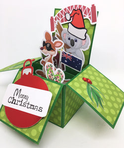 Aussie Christmas 3D Box Card
