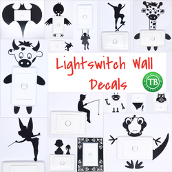 Light Switch Wall Transfers - 15 designs