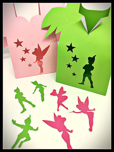 12 pack Mixed Peter Pan & Tinkerbell Fairy Party Favours/Lollybags & Scatters