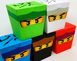 5 pack Ninja Party Favours/Lollybags - Mixed Colours