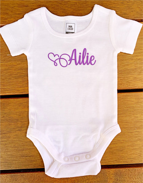 Personalised Baby Bodysuit/Onesie/Grow Suit (Short Sleeved)