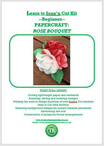LEARN TO SCAN'n CUT KIT (CM SERIES) - PAPERCRAFT ROSE BOUQUET