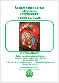 LEARN TO SCAN'n CUT KIT (CM SERIES) - TEDDY BEAR GIFT BAG