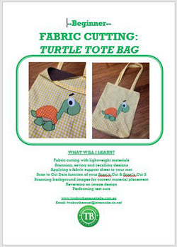 LEARN TO SCAN'n CUT KIT (CM SERIES) - FABRIC TURTLE TOTE BAG