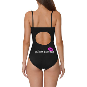 UNIQUE NOVELTY WOMENS  BIRTHDAY ONE PIECE Swimsuit UP TO 3XXX