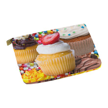 Load image into Gallery viewer, UNIQUE NOVELTY OVERSIZED CUPCAKE2  Carry-All MAKEUP BAG 12.5''x8.5''