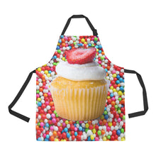 Load image into Gallery viewer, CUPCAKE NAIL TECHNICIAN APRON SMOCK
