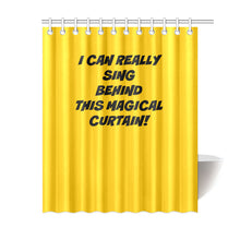 "Load image into Gallery viewer, UNIQUE NOVELTY SINGING IN THE SHOWER CURTAIN 6 COLORS ""69X84"""