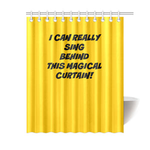 "UNIQUE NOVELTY SINGING IN THE SHOWER CURTAIN 6 COLORS ""69X84"""