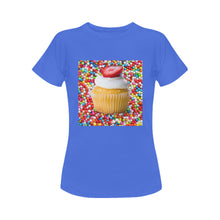 Load image into Gallery viewer, UNIQUE NOVELTY WOMENS CUPCAKE TSHIRT 3 COLORS