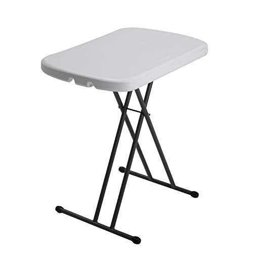 Adjustable MOBILE NAIL TECH Folding Table White