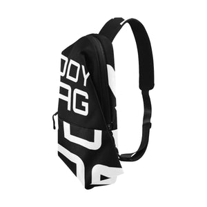 BODY BAG CROSS BODY MESSENGER BLACK AND WHITE Chest Bag