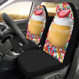 UNIQUE NOVELTY CUPCAKE2 Car Seat Covers (Set of 2)