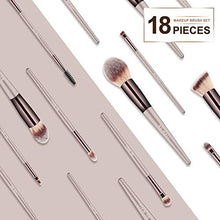 Load image into Gallery viewer, Makeup Brush Set 18 Pcs Premium Synthetic Foundation Powder Concealers Eye shadows Blush