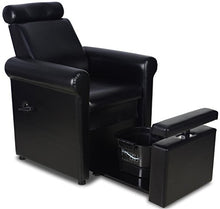 Load image into Gallery viewer, Black Pedicure Foot Spa Station Chair (FOOT TUB NOT INCLUDED)