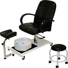 Load image into Gallery viewer, Hydraulic Lift Adjustable Pedicure Unit with Easy-Clean Bubble Massage Footbath & FREE STOOL