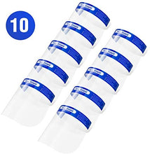 Load image into Gallery viewer, Nail Tech 10pcs Safety Face Shields