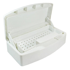 Nail Sterilization Box Alcohol Plastic Disinfection Nail Tray Easy Cleaner