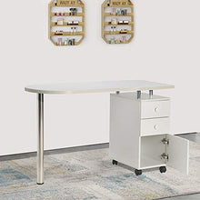 Load image into Gallery viewer, WHITE Nail Table Portable Manicure Table Station
