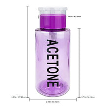 Load image into Gallery viewer, 7oz. Acetone Labeled Liquid Push Down Pump Dispenser Bottle