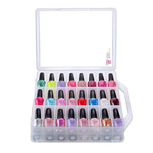 Load image into Gallery viewer, Clear Nail Polish Organizer Holder for 48 Bottles Adjustable Dividers Space Saver