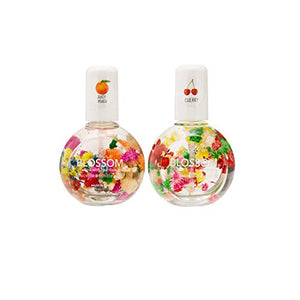 2Pk Blossom Scented Cuticle Oil Infused with Real Flowers Twin Pack