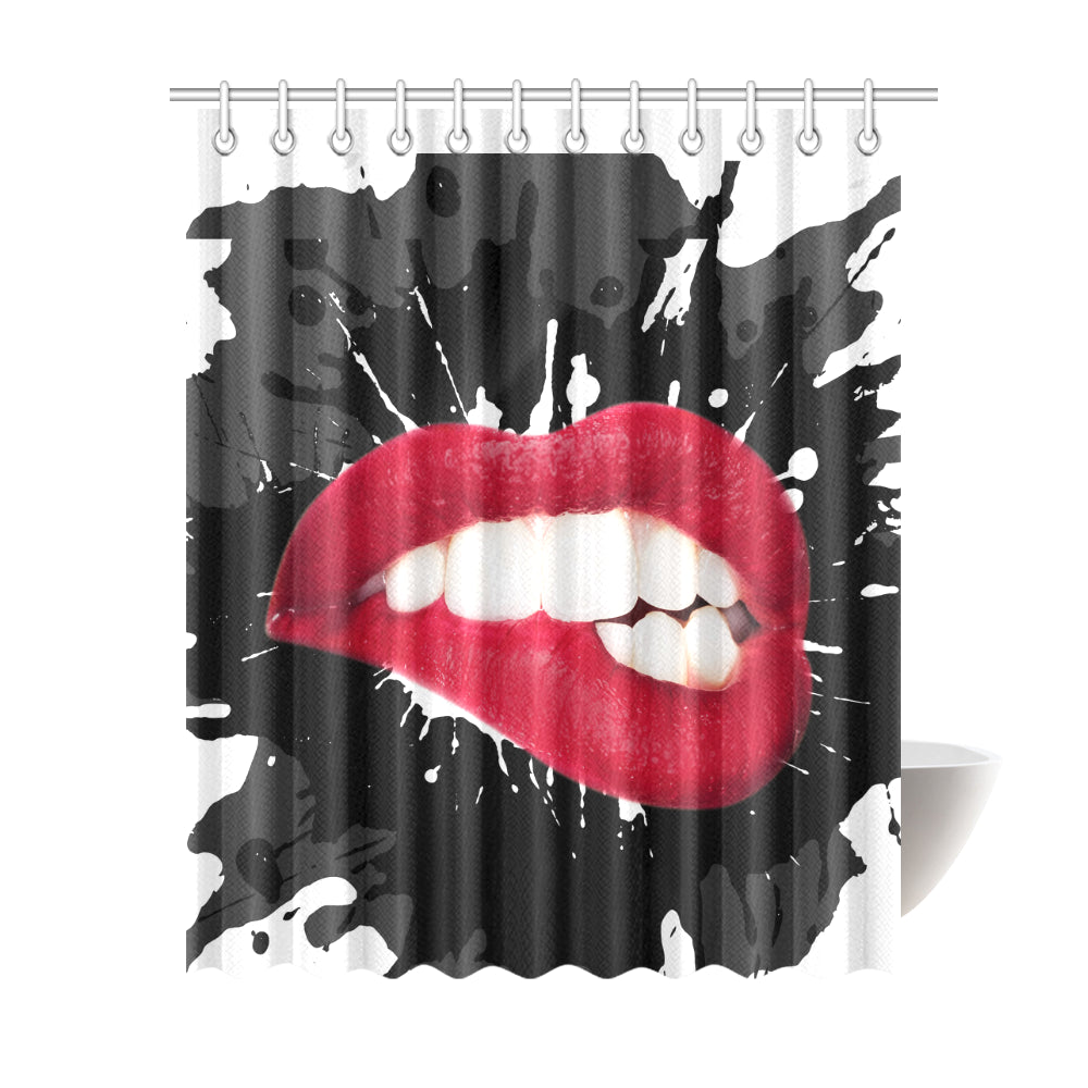 Lipstick Makeup Shower Curtain