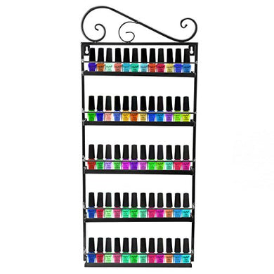 Nail Polish Wall Rack Organizer Holds 50 Bottles