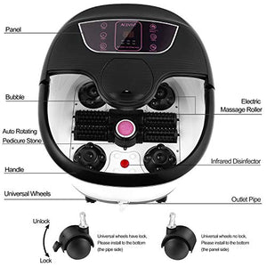 Foot Spa Bath with Heat and Massage and Bubble Jets, Motorized Shiatsu Jets