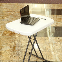 Load image into Gallery viewer, Adjustable MOBILE NAIL TECH Folding Table White