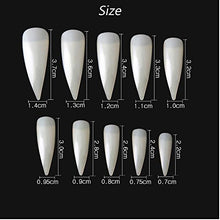Load image into Gallery viewer, 100PCS Stiletto Nail Tips Shape Natural Half Cover False Nails