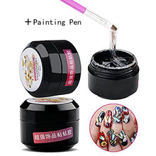 Load image into Gallery viewer, Nail Art Bling Glue for Rhinestones Super Sticky Hard Gel + FREE GEL APPLICATOR!