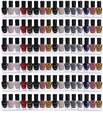 66-90 Bottles3 OR 6 Pack Clear Acrylic Shelf Nail Polish Rack