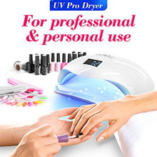 Load image into Gallery viewer, DOUBLE HAND SUN 5 Pro Best UV LED Nail Lamp 72W