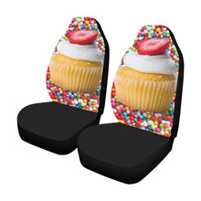 Load image into Gallery viewer, UNIQUE NOVELTY CUPCAKE2 Car Seat Covers (Set of 2)