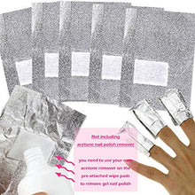 Load image into Gallery viewer, Nail Remover Foil Wraps + 1x Steel Remover Scraper Cuticle Pusher Kit