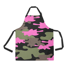 Load image into Gallery viewer, CAMO UNIQUE NOVELTY NAIL TECHNICIAN SMOCK APRON 2 DESIGNS