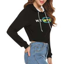 Load image into Gallery viewer, Crop Top Black and White Novelty Hoodie for Women Up to 2XXL Plus Size