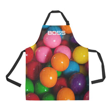 Load image into Gallery viewer, GUMBALL NAIL SMOCK APRON 2 DESIGNS TO CHOOSE FROM