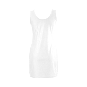 Unique Women's Summer Sleeveless Spandex White Dress Up to 3XXXL Plus Size