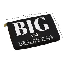Load image into Gallery viewer, HUGE OVERSIZED NOVELTY COSMETIC BAG Carry-All Pouch 12.5''x8.5''