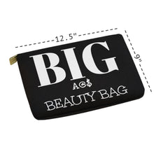 Load image into Gallery viewer, HUGE Unique 12x8.5 Oversized Hair Cosmetic Bag