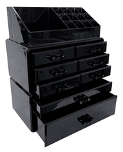 Load image into Gallery viewer, Professional Black Makeup Acrylic Organizer Drawers