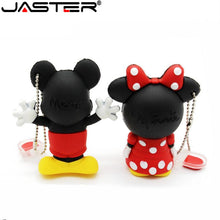 Load image into Gallery viewer, JASTER creative Mouse Mickey and Minnie USB Flash Drive Animal Cartoon Flash Drive 4GB 8GB 16GB 32GB 64gb memory stick u disk