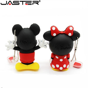 JASTER creative Mouse Mickey and Minnie USB Flash Drive Animal Cartoon Flash Drive 4GB 8GB 16GB 32GB 64gb memory stick u disk